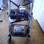 Projektor und Autobatterie